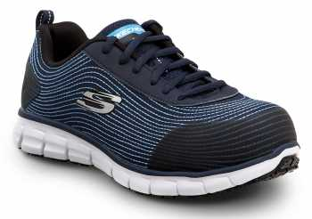 Skechers SSK8173NVY Mia, Women's, Navy, Alloy Toe, EH, Slip Resistant Low Athletic