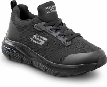 Skechers Arch Fit SSK8435BLK Serena, Women's, Black, Soft Toe, Slip Resistant, Slip On Athletic