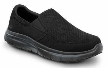Skechers SSK9809BBK Jimmy Men's Black, Soft Toe, MaxTrax Slip Resistant, Slip-on Athletic