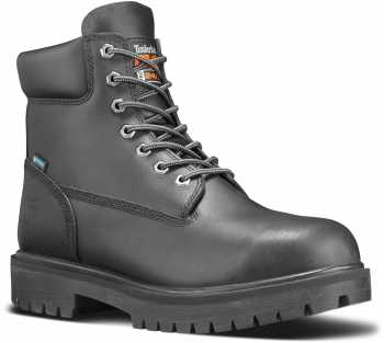 Timberland PRO STMA1W6M Men's, Direct Attach Black, Soft Toe, Slip Resistant, WP, 6 Inch Boot