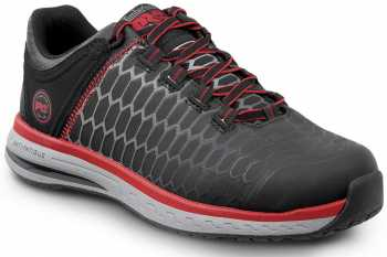 Timberland PRO STMA1XR9 Powerdrive, Men's, Black/Red, Soft Toe, EH, Low Athletic