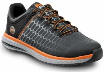 Timberland PRO STMA1XRK Powerdrive, Men's, Black/Orange, Soft Toe, EH, Low Athletic