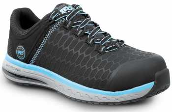 Timberland PRO STMA1XS7 Powerdrive, Women's, Black/Aqua, Comp Toe, EH, Low Athletic
