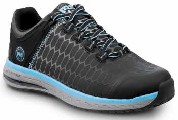 Timberland PRO STMA1XUE Powerdrive, Women's, Black/Aqua, Soft Toe, EH, Low Athletic