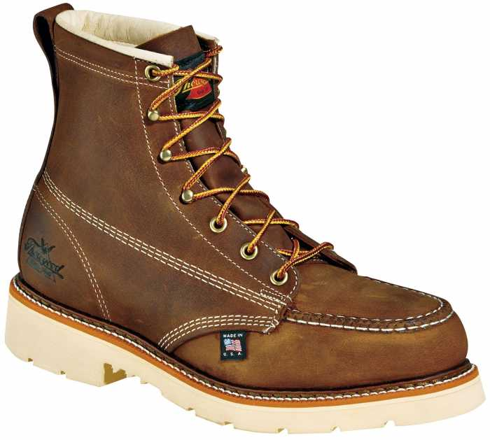 Thorogood TG804-4375 Men's, Brown, Steel Toe, EH, 6 Inch, Moc Toe Boot