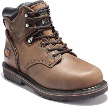 Timberland PRO TM33034 Pit Boss, Men's, Brown, Steel Toe, EH, 6 Inch Boot