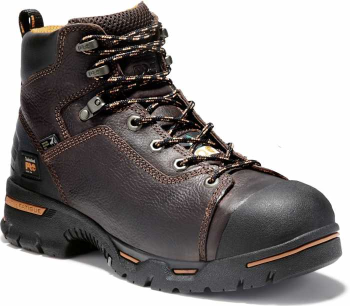 Timberland PRO TM52562 Briar Brown, Men's, Endurance Steel Toe, EH, Puncture Resistant, 6 Inch Work Boot