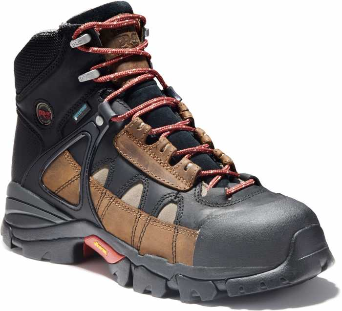 Timberland PRO Hyperion, Men's, Brown/Black, Alloy Toe, EH, WP, 6 Inch Boot