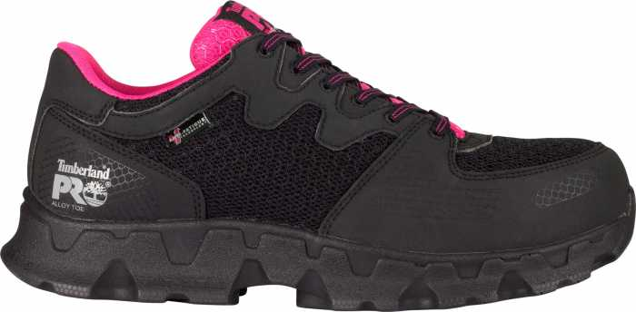 Timberland PRO TM92669 Powertrain SD, Black/Pink, Women's, Alloy Toe, Low Casual