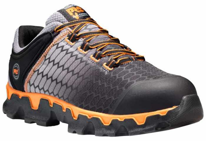 Timberland PRO TMA1GT9 Powertrain Sport Men's,Grey/Orange, Alloy Toe, SD, Sport Shoe