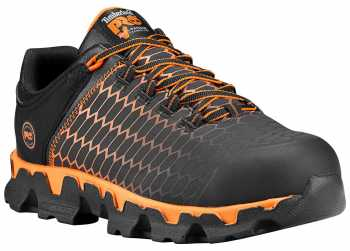 Timberland PRO TMA1I3U Powertrain, Men's, Black/Orange, Alloy Toe, EH, Athletic Oxford