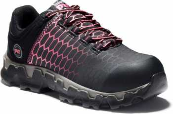 Timberland PRO TMA1I5Q Powertrain, Women's, Black/Pink, Alloy Toe, EH, Casual