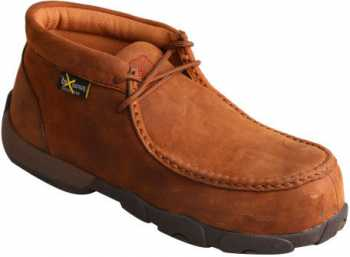 Twisted X TWWDMCTM1 Women's, Saddle, Comp Toe, EH, Mt, Chukka Driving Moc