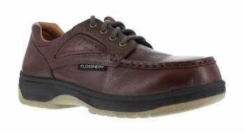 Florsheim WGFS2400 Dark Brown, Men's, Non-Metallic Composite Toe, SD Eurocasual Moc Toe Oxford
