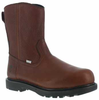 Iron Age WGIA0195 Hauler, Men's, Brown, Comp Toe, EH, Mt, 10 Inch, Side Zip Wellington