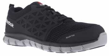 Reebok Work WGRB041 Sublite Cushion Work, Women's, Black, Alloy Toe, EH, Low Athletic