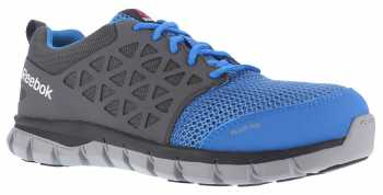 Reebok Work WGRB044 Sublite Cushion Work, Women's, Blue/Grey, Alloy Toe, SD Athletic