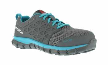 Reebok Work WGRG045 Sublite Cushion Work, Women's Grey, Alloy Toe, SD, Low Athletic