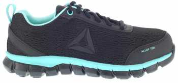 Reebok WGRB050 Sublite Work, Women's, Black/Mint, Alloy Toe, SD, Work Athletic