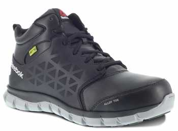 Reebok WGRB143 Sublite Work, Women's, Black, Alloy Toe, EH, Mt, Mid Height Athletic