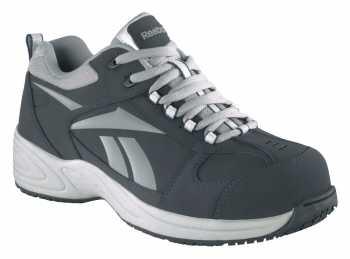 Reebok Work WGRB182 Navy/Silver Comp Toe, EH, Women's Street Sport Jogger Oxford