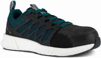 Reebok Work WGRB314 Fusion Flexweave, Women's, Black/Teal, Comp Toe, SD, Work Athletic