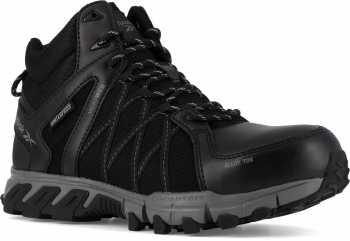Reebok Work WGRB3401 Trailgrip, Men's, Black/Grey, Alloy Toe, EH, WP, Mid High Athletic