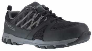 Reebok WGRB4015 Sublite Work, Men's, Black/Grey, Soft Toe, SD, Athletic Oxford
