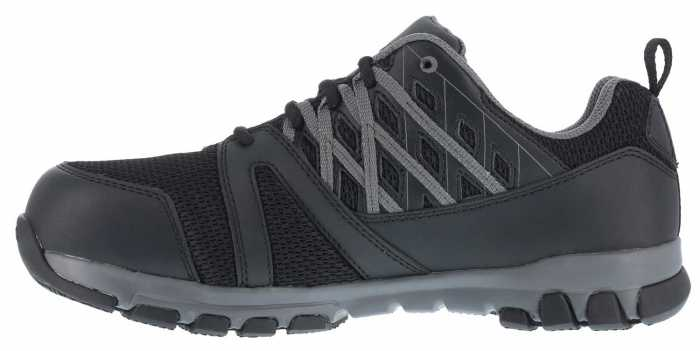 Reebok Work WGRB4016 Sublite Work, Men's, Black/Grey, Steel Toe, SD, Athletic Oxford