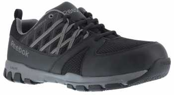 Reebok WGRB4016 Sublite Work, Men's, Black/Grey, Steel Toe, SD, Athletic Oxford