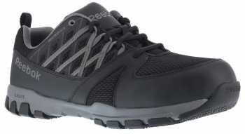Reebok Work WGRB4016 Sublite Work, Men's, Black/Grey, Steel Toe, SD, Athletic Oxford