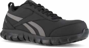 Reebok Work WGRB4120 Sublite Cushion Work, Men's, Black/Grey, Comp Toe, SD Athletic