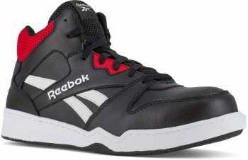 Reebok WGRB4132 BB4500 Work, Men's, Black/Red, Comp Toe, EH, High Top Athletic