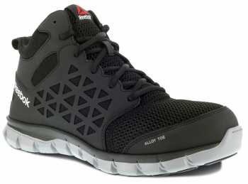 Reebok WGRB4141 Sublite Cushion Work, Men's, Black, Alloy Toe, SD Midheight