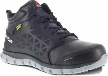 Reebok Work WGRB4143 Sublite Cushion Work, Men's, Black, Alloy Toe, EH, Mt Athletic