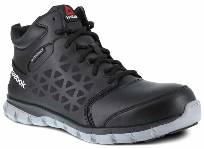 Reebok Work WGRB4144 Sublite Work, Men's, Black, Comp Toe, EH, Mid-height