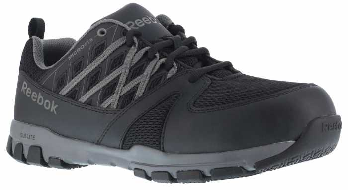 Reebok Work WGRB416 Sublite Work, Women's, Black/Grey, Steel Toe, SD, Work Athletic