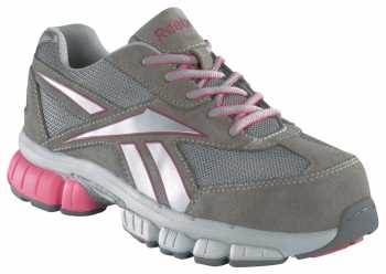 Reebok Work WGRB445 Gray/Pink Composite Toe, Electrical Hazard Women's Performance Cross Trainer