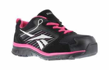 Reebok WGRB454 Black/Pink/Silver Comp Toe, SD, Women's Sports Series Athletic