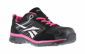 Reebok Work WGRB454 Black/Pink/Silver Comp Toe, SD, Women's Sports Series Athletic