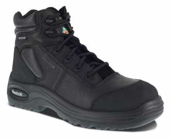 Reebok Work WGRB6765 Black Comp Toe, EH, PR, Waterproof Men's 6 Inch Sport Boot
