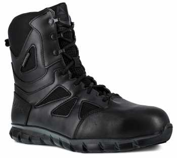 Reebok Work WGRB8807 Sublite Tactical, Men's, Black, Comp Toe, EH, WP 8 Inch