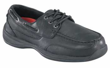 Rockport Works WGRK638 Black, Steel Toe, SD, Women's Sailing Club 3 Eye Boat Shoe