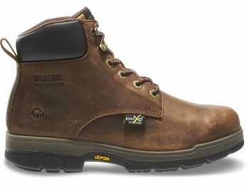 Wolverine WW10361 Gallatin, Men's, Brown, Steel Toe, EH, Mt, 6 Inch