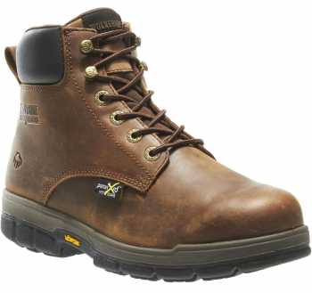 Wolverine WW10361 Gallatin, Men's, Brown, Steel Toe, EH, Mt, 6 Inch