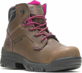 Wolverine WW10383 Merlin Brown, Waterproof, Comp Toe, EH, 6 Inch Work Boot
