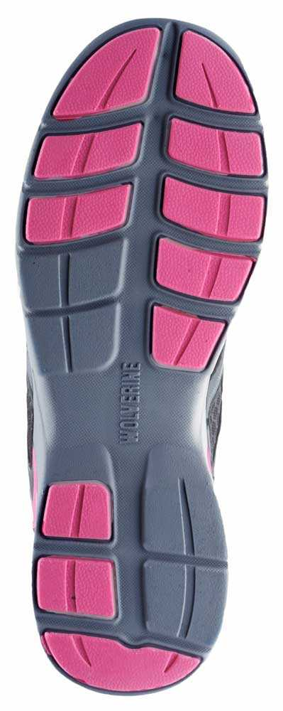 Wolverine WW10678 Jetstream Women's Grey/Pink, CarbonMAX, EH, Low Athletic