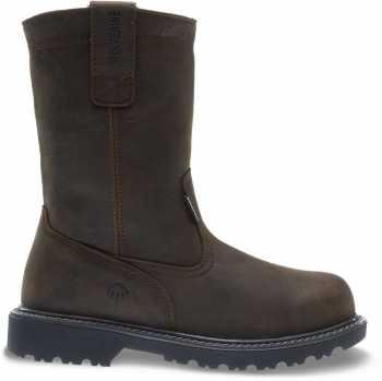 Wolverine WW10680 Floorhand Welly Men's, Brown, Steel Toe, EH, WP, Pull On Boot