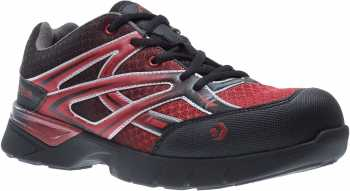 Wolverine WW10692 Jetstream, Men's, Black/Red, CarbonMAX Toe, EH, Low Athletic