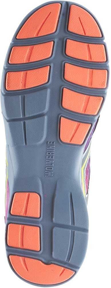 Wolverine WW10693 Jetstream Women's Orange/Purple, CarbonMAX, EH, Low Athletic